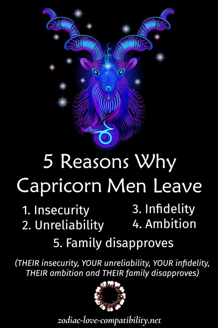 reasons why capricorn men leave