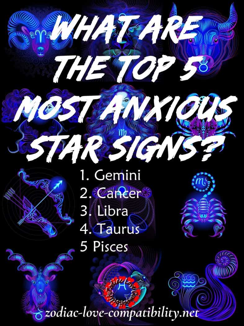 Zodiac Signs and Anxiety - Which Starsigns are the most and