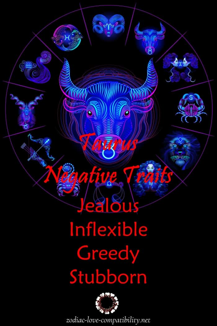 taurus negative personality traits